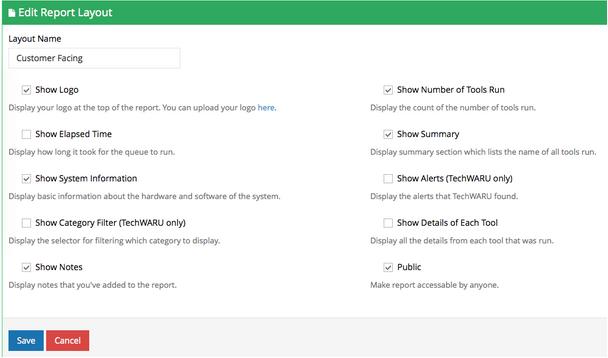 Custom Reports in TechPortal!