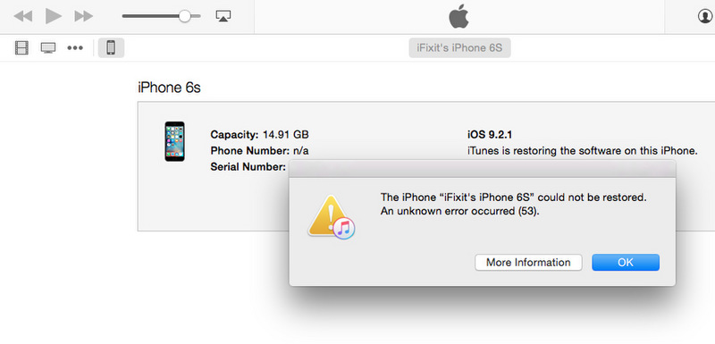 Confirmed: Apple's Error 53 Fix Works