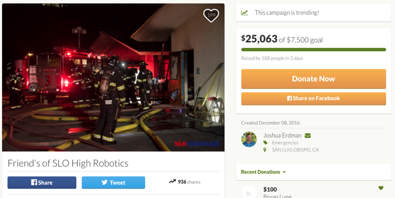 Even a Fire Can't Bring Down This High School Robotics Team